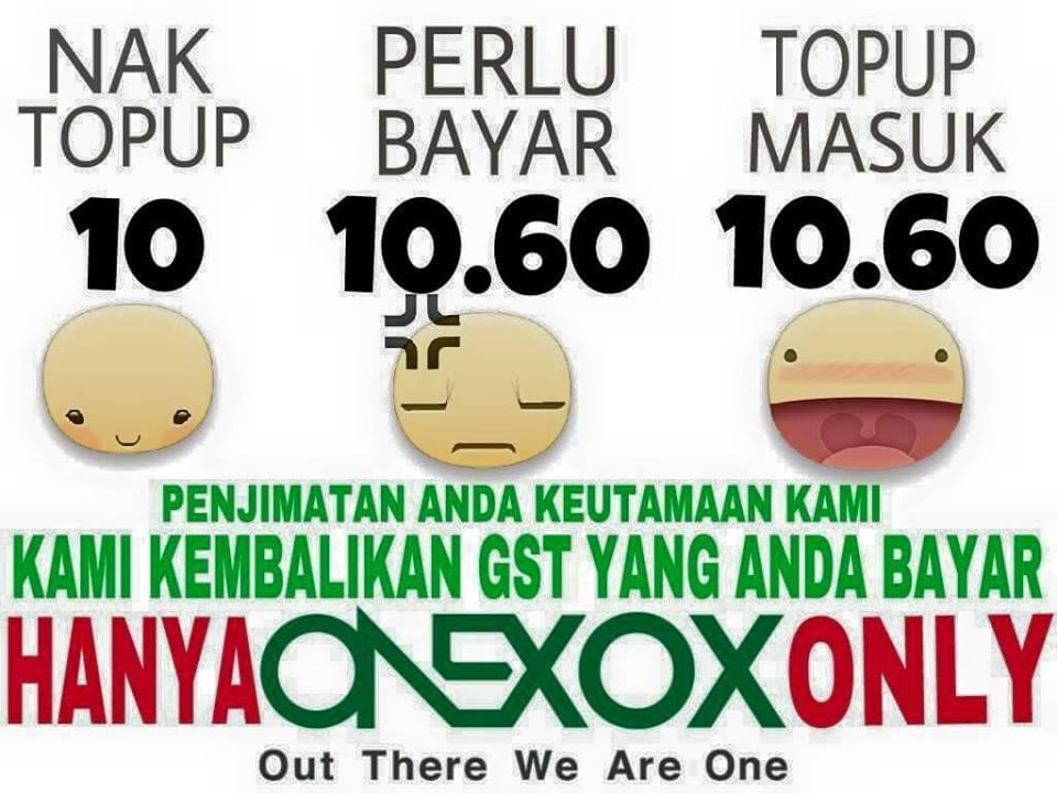 6% GST dikembalikan dalam bentuk KREDIT!!